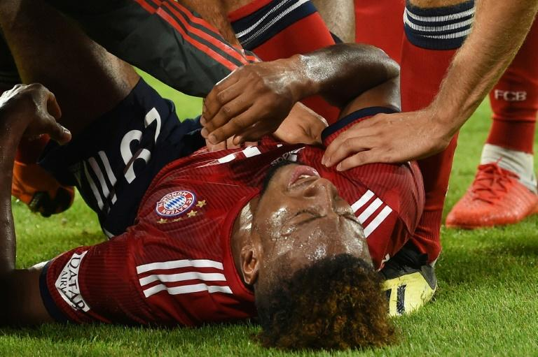France winger Kingsley Coman is set to be sidelined 'for weeks' after the Bayern Munich star tore ankle ligaments for the second time this year in Friday's 3-1 win over Hoffenheim on the opening day of the 2018/19 Bundesliga season