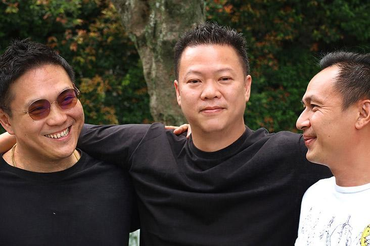 The co-founders of Krave Koffee (from left to right): Foo Ken Vin, Kenny Yap and Sean Lee.