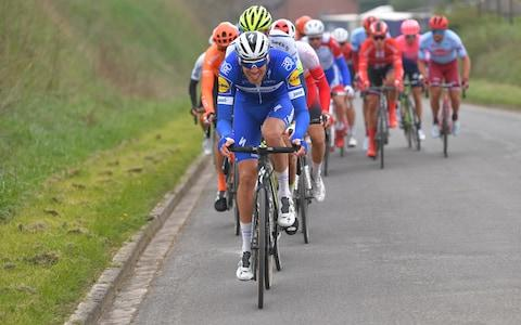 <span>Tim Declercq not only controlled the pace during the opening 100km of the race, but he also monitored who got in the breakaway while battling with strong winds</span> <span>Credit: Getty Images </span>