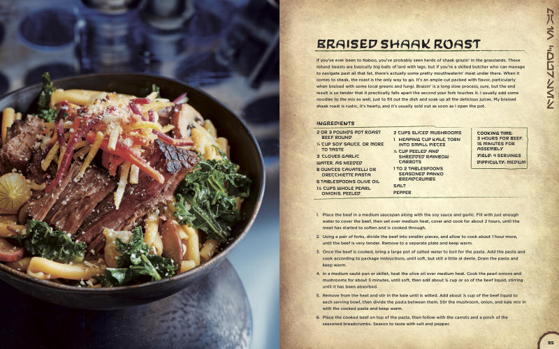 Braised Shaak Roast is the 'Star Wars' equivalent of pot roast, taken up a notch. (Photo courtesy of Insight Editions)