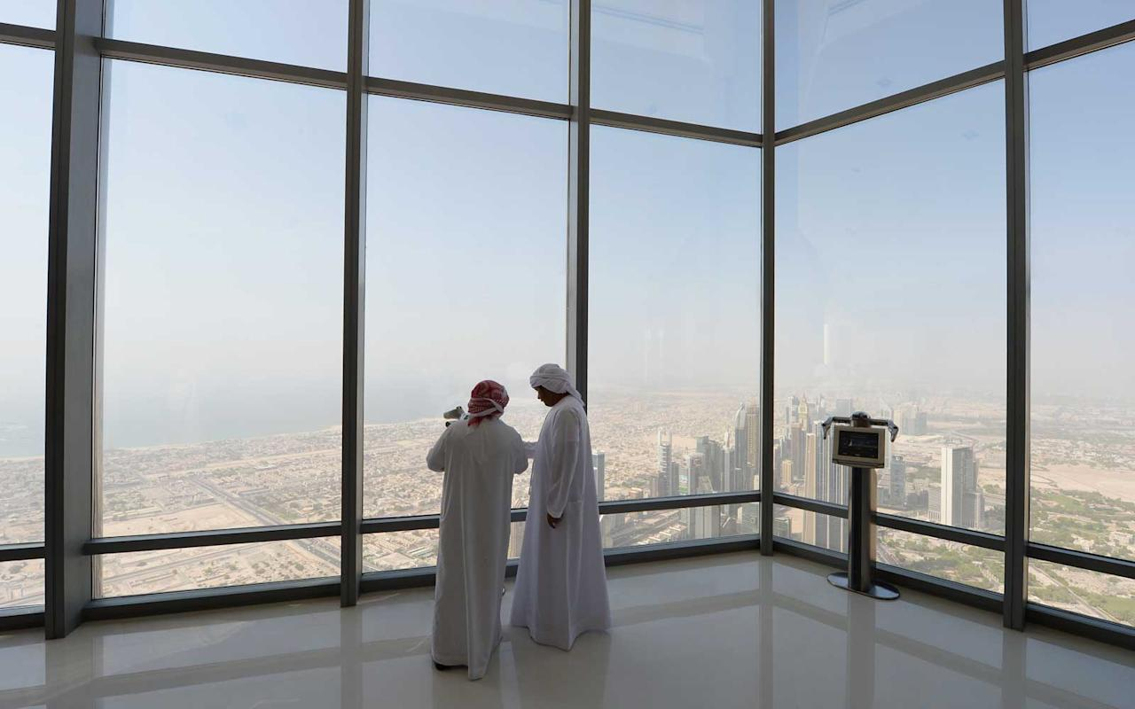 "<p>The tallest building in the world, the Burj Khalifa towers 160 stories above the <a rel=""nofollow"" href=""https://www.travelandleisure.com/travel-guide/dubai"">cosmopolitan metropolis of Dubai</a>. For a luxury experience opt for <a rel=""nofollow"" href=""http://www.burjkhalifa.ae/en/observation/"">the ""Sky"" package</a>, which includes a private tour guide, an interactive exhibit, and exclusive access to the building's tallest observation deck located on the 148th floor. If that's too high (in cost and height) the regular observation area is still staggeringly high, sitting on floors 124 and 125.</p>"