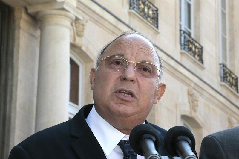Head of France's Muslim Council and rector of Paris' Grand Mosque Dalil Boubakeur gives a speech at the Elysee presidential palace in Paris on July 17, 2013 in Paris (AFP Photo/Jacques Demarthon)