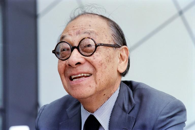 Portrait taken on Augsut 31, 1995 shows Chinese American architect Ieoh Ming Pei during the opening ceremony of the Rock and Roll Hall of Fame museum in Cleveland