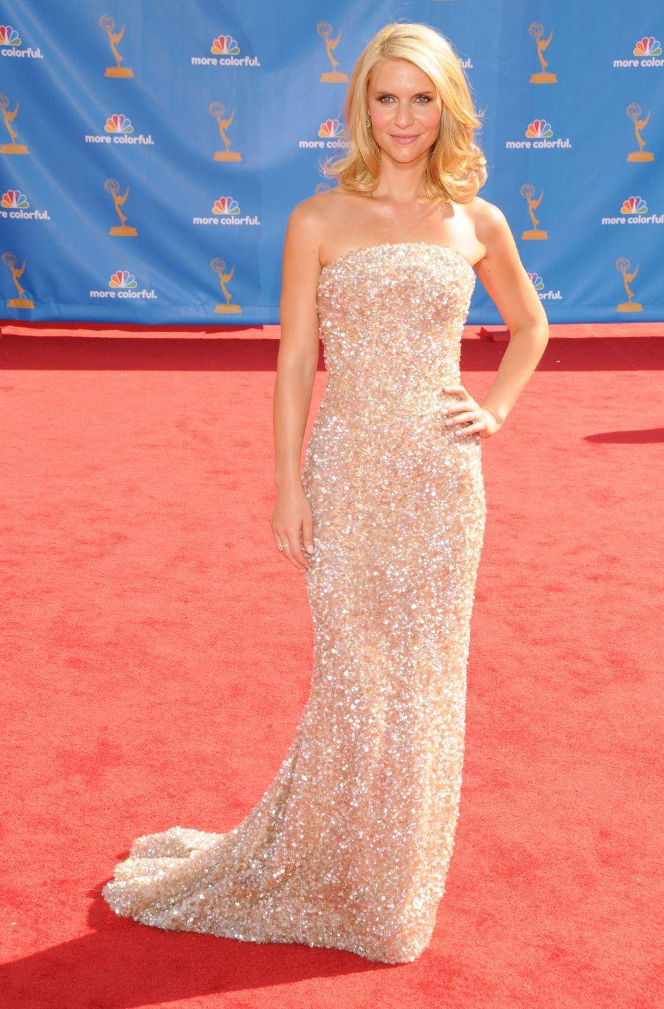 <p>Danes absolutely glistened at the 2010 Emmy Awards.</p>