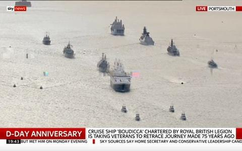 The flotilla leaves Portsmouth - Credit: Sky News