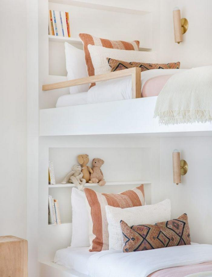 """<p>The built-in shelves on these bunk beds are the perfect place to store bedtime stories and stuffed animals.</p><p><strong>See more at </strong><strong><a href=""""https://allsortsof.com/client-black-houses-are-the-best-houses/"""" rel=""""nofollow noopener"""" target=""""_blank"""" data-ylk=""""slk:Amber Interiors"""" class=""""link rapid-noclick-resp"""">Amber Interiors</a>.</strong></p><p><strong><strong><a class=""""link rapid-noclick-resp"""" href=""""https://www.amazon.com/s?k=plastic+storage+bins&ref=nb_sb_noss_2&tag=syn-yahoo-20&ascsubtag=%5Bartid%7C10063.g.36014277%5Bsrc%7Cyahoo-us"""" rel=""""nofollow noopener"""" target=""""_blank"""" data-ylk=""""slk:SHOP PLASTIC STORAGE BINS"""">SHOP PLASTIC STORAGE BINS</a></strong><br></strong></p>"""