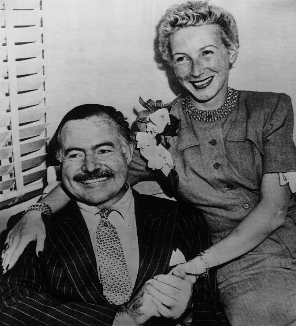 """<p>After divorcing Martha Gellhorn in 1945, Ernest Hemingway married once again. The novelist said """"I do"""" to <a href=""""https://www.biography.com/news/ernest-hemingway-wives"""" rel=""""nofollow noopener"""" target=""""_blank"""" data-ylk=""""slk:journalist Mary Welsh Hemingway in Cuba"""" class=""""link rapid-noclick-resp"""">journalist Mary Welsh Hemingway in Cuba</a> in 1946 and afterwards relocated to the island. </p>"""