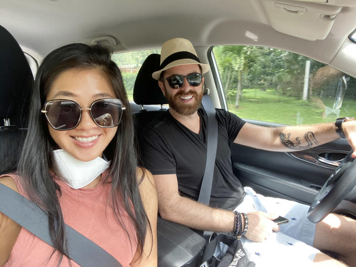 The couple spent more than three months in Costa Rica before leaving on a government flight. (TODAY)