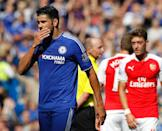 Chelsea will be without Diego Costa (L), who is serving a suspension following his retrospective punishment for tangling with Laurent Koscielny in the win over Arsenal (AFP Photo/Ian Kington)