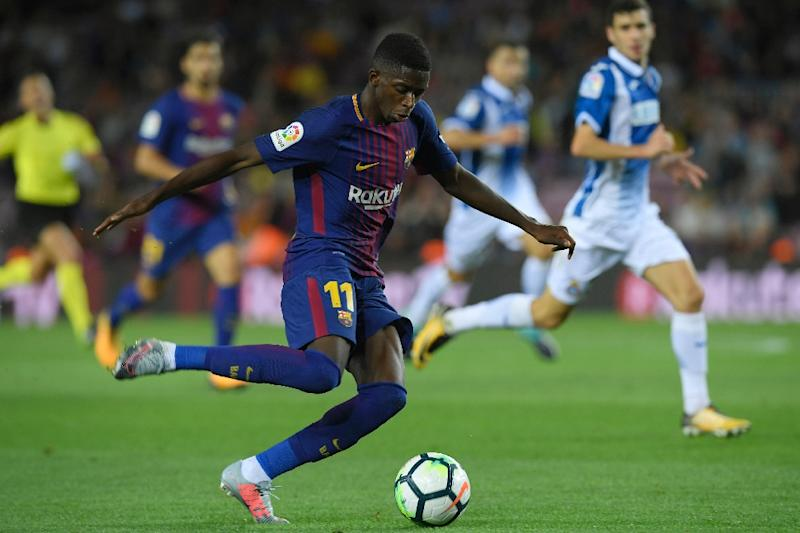 Dembele suffers hamstring injury in first Barca league start