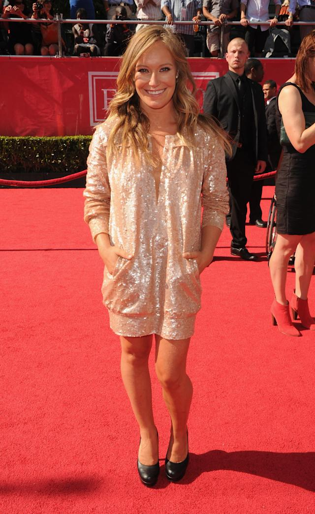 LOS ANGELES, CA - JULY 11: Olympic gold medalist Jamie Anderson arrives at the 2012 ESPY Awards at Nokia Theatre L.A. Live on July 11, 2012 in Los Angeles, California. (Photo by Steve Granitz/WireImage)