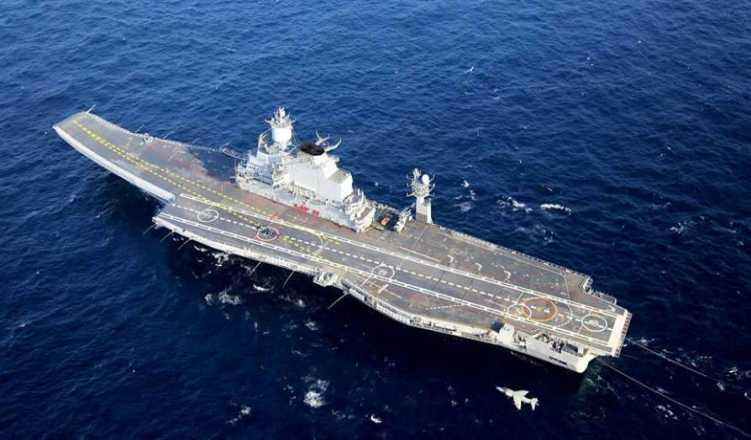 Despite fire, INS Vikramaditya takes part in Indo-French exercise