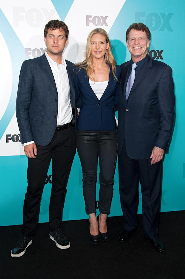 """Joshua Jackson, Anna Torv, and John Noble (""""Fringe"""") attend the Fox 2012 Upfronts Post-Show Party on May 14, 2012 in New York City."""