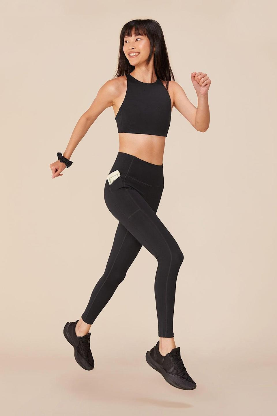 """<br><br><strong>Girlfriend Collective</strong> Black High-Rise Pocket Legging, $, available at <a href=""""https://go.skimresources.com/?id=30283X879131&url=https%3A%2F%2Ffave.co%2F34u1nzj"""" rel=""""nofollow noopener"""" target=""""_blank"""" data-ylk=""""slk:Girlfriend Collective"""" class=""""link rapid-noclick-resp"""">Girlfriend Collective</a>"""