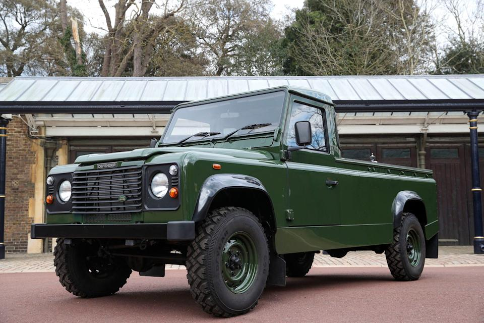 According to Buckingham Palace, Prince Philip picked out the Land Rover Defender TD5 130that would bear his coffin 18 years ago and designed the chassis cab vehicleto his specifications.