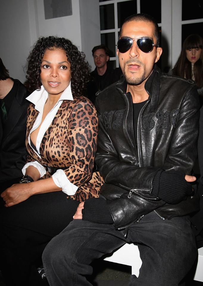 """The best way to get over an ex? Snag a wealthy businessman from Quatar. Janet Jackson, 44, got together with Wissam Al Mana -- the 30-something director of the Middle Eastern luxury company Al Mana Retail -- following her breakup with longtime partner Jermaine Dupri. Jackson and Al Mana went public earlier this year, making appearances at Paris Fashion Week and on the streets of London where she'd been promoting """"Why Did I Get Married Too?"""" <a href=""""http://www.wireimage.com"""" target=""""new"""">WireImage.com</a> - February 22, 2010"""