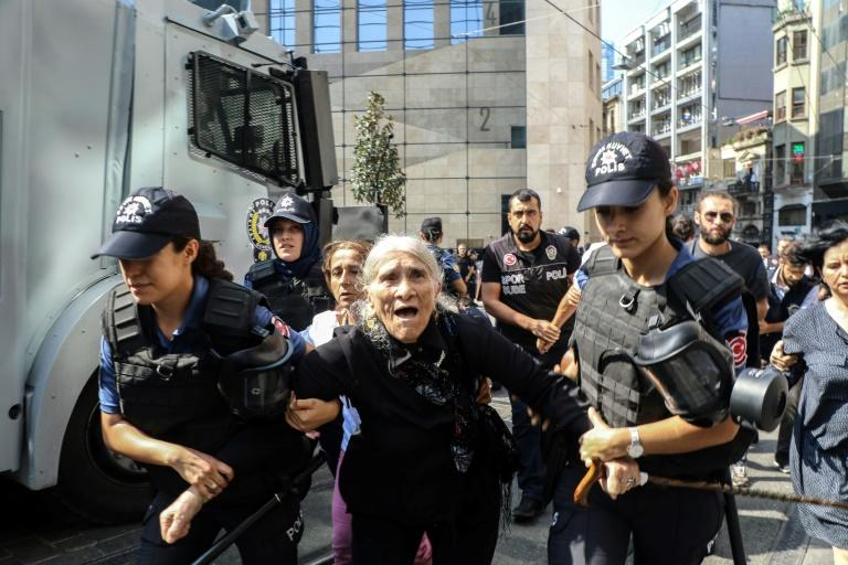 Among those detained was veteran Saturday Mothers protest leader Emine Ocak, who is reportedly 82