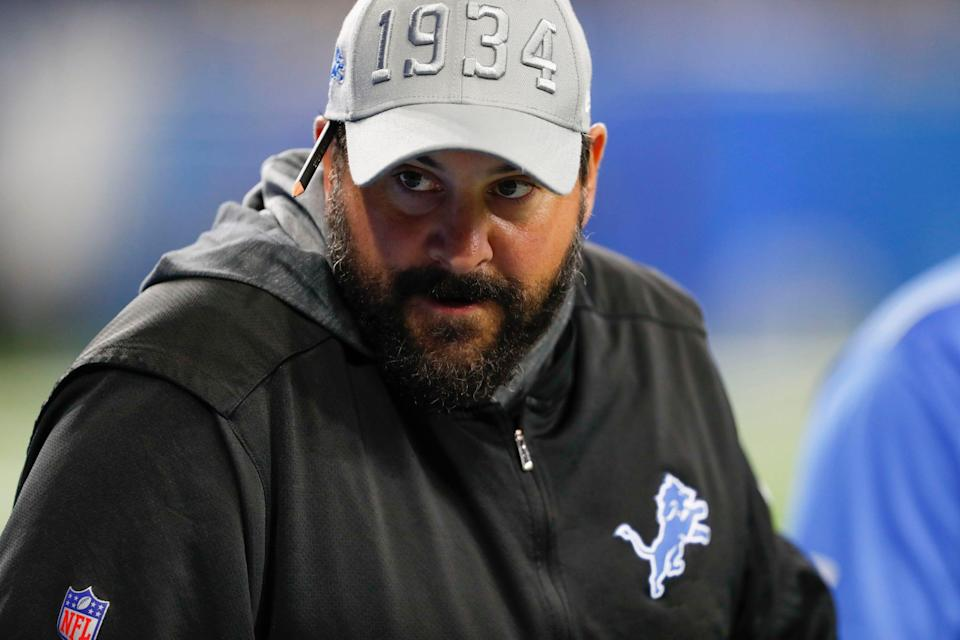 Detroit Lions coach Matt Patricia looks on before the game against the Buffalo Bills at Ford Field on Aug. 23, 2019 in Detroit.