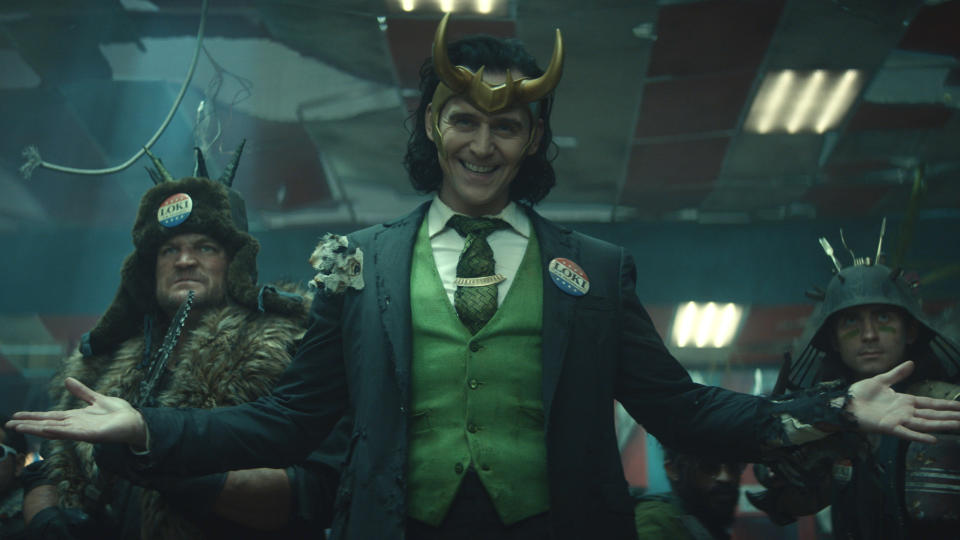 Tom Hiddleston takes centre stage as the titular Norse trickster in Marvel series 'Loki'. (Marvel/Disney)