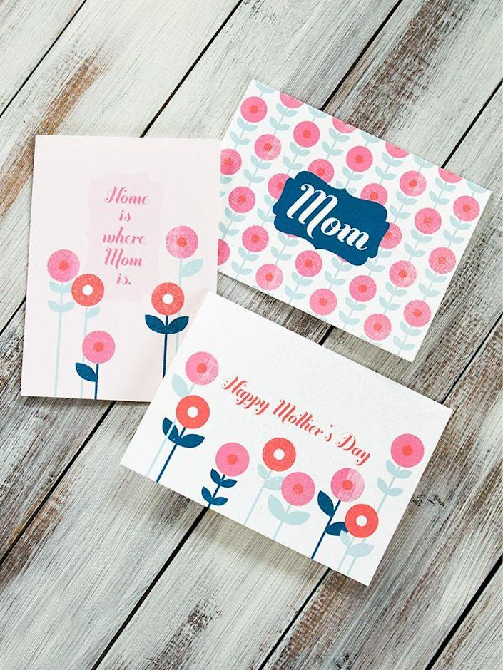 """<p>Keep it simple with these elegant cards that cut right to the point so that you can fill the inside with a heartfelt message.</p><p><strong>Get the printables at <a href=""""https://sarahhearts.com/printable-mothers-day-cards/"""" rel=""""nofollow noopener"""" target=""""_blank"""" data-ylk=""""slk:Sarah Hearts"""" class=""""link rapid-noclick-resp"""">Sarah Hearts</a>.</strong></p><p><strong><strong><a class=""""link rapid-noclick-resp"""" href=""""https://www.amazon.com/Neenah-Exact-Inches-Sheets-Brightness/dp/B006P1EQXA/?tag=syn-yahoo-20&ascsubtag=%5Bartid%7C10050.g.3195%5Bsrc%7Cyahoo-us"""" rel=""""nofollow noopener"""" target=""""_blank"""" data-ylk=""""slk:SHOP CARDSTOCK"""">SHOP CARDSTOCK</a></strong><br></strong></p>"""