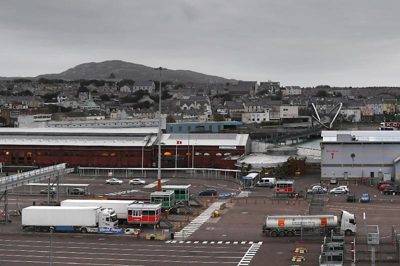 Employing 650 people in a town of 12,000, the port at Holyhead in north-west Wales, is vital to the local economy (AFP Photo/PAUL ELLIS)