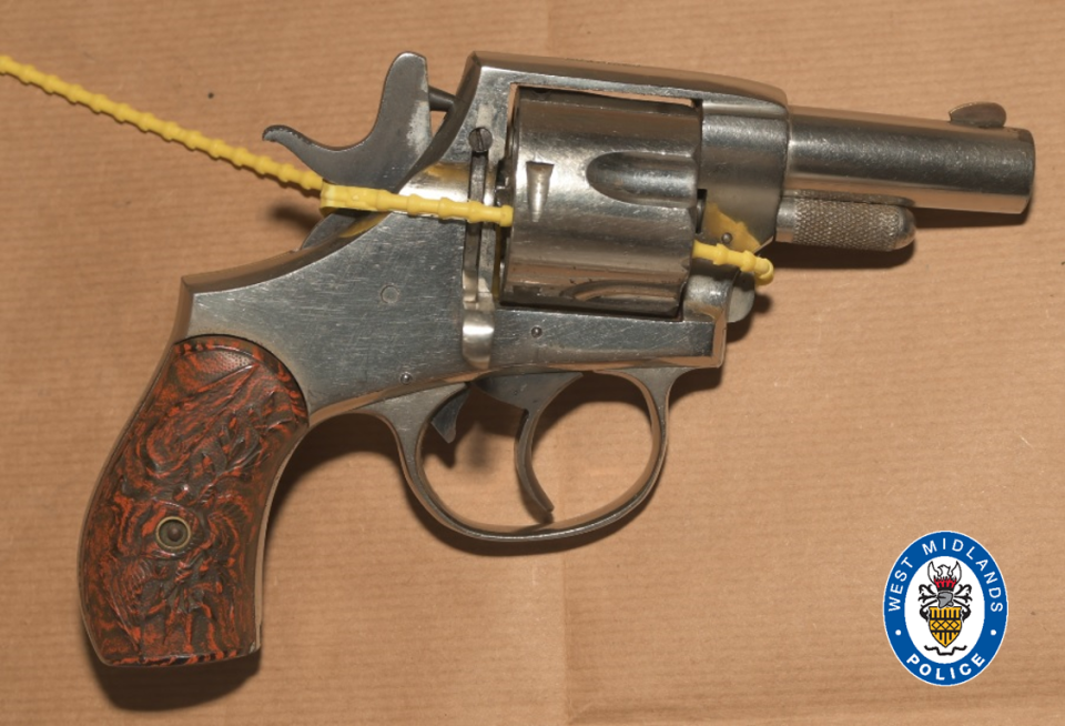 A revolver found by police. (West Midlands Police)
