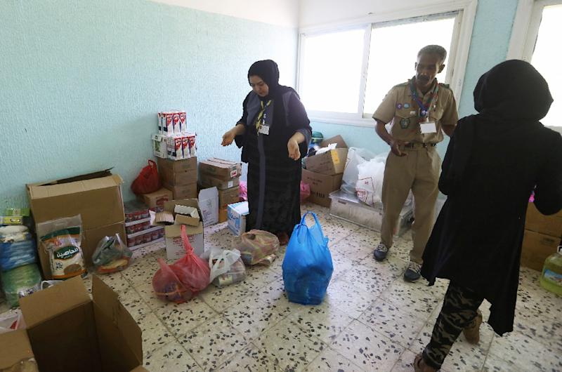 Some schools in Libya have been turned into shelters for families displaced by weeks of fighting (AFP Photo/Mahmud TURKIA)