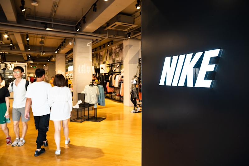 SHENZHEN, GUANGDONG, CHINA - 2019/10/05: Customers visit American multinational sportswear manufacturer Nike store in Shenzhen. (Photo by Alex Tai/SOPA Images/LightRocket via Getty Images)