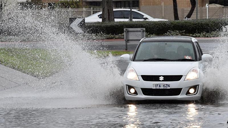 Heavy rain is set to ease in western Victoria after a low-lying town suffered severe flooding.