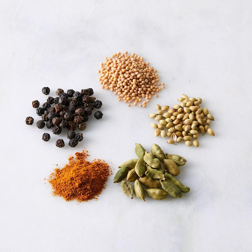 <p>We're planning to make a few recipes using this <span>La Boîte Indian Spice Set (5-Pack)</span> ($54).</p>