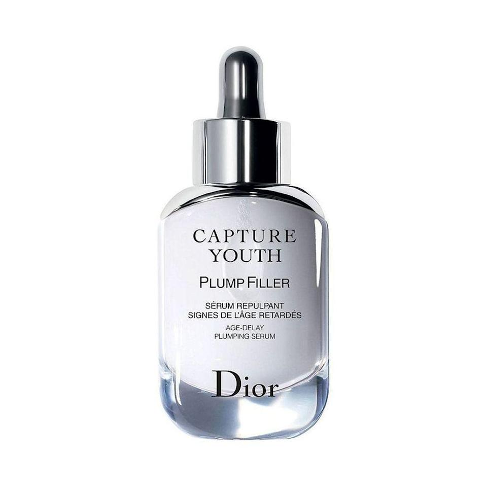 """<p><strong>Dior</strong></p><p>sephora.com</p><p><strong>$95.00</strong></p><p><a href=""""https://go.redirectingat.com?id=74968X1596630&url=https%3A%2F%2Fwww.sephora.com%2Fproduct%2Fcapture-youth-serum-P428255&sref=https%3A%2F%2Fwww.elle.com%2Fbeauty%2Fmakeup-skin-care%2Ftips%2Fg8091%2Fface-serum%2F"""" rel=""""nofollow noopener"""" target=""""_blank"""" data-ylk=""""slk:Shop Now"""" class=""""link rapid-noclick-resp"""">Shop Now</a></p><p>There's five varied facial serums in the Dior collection, but we chose this one—which is loaded with hyaluronic acid—to quench the skin and release fine lines for a supple, fuller face. </p>"""
