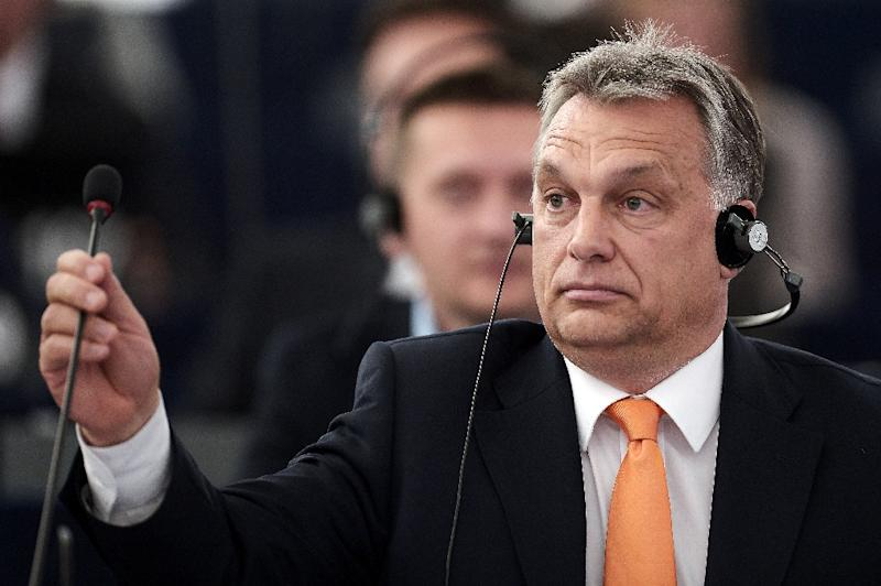 Hungary's Prime minister Viktor Orban says mass migration threatens European civilisation