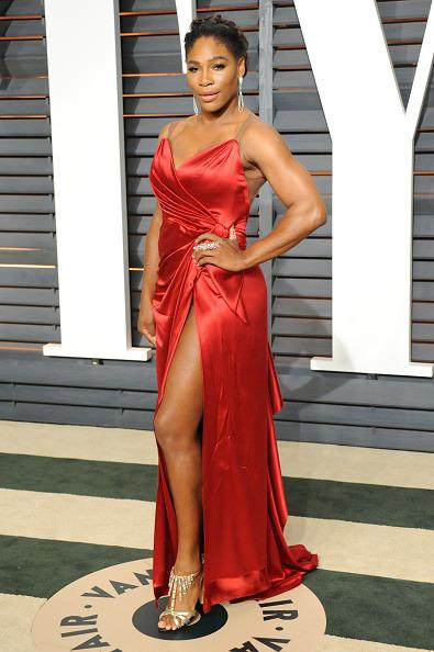 <p>This show-stopping red number made Serena one of the best dressed at Vanity Fair's Oscar Party in 2015. <i>[Photo:Jon Kopaloff/FilmMagic]</i></p>