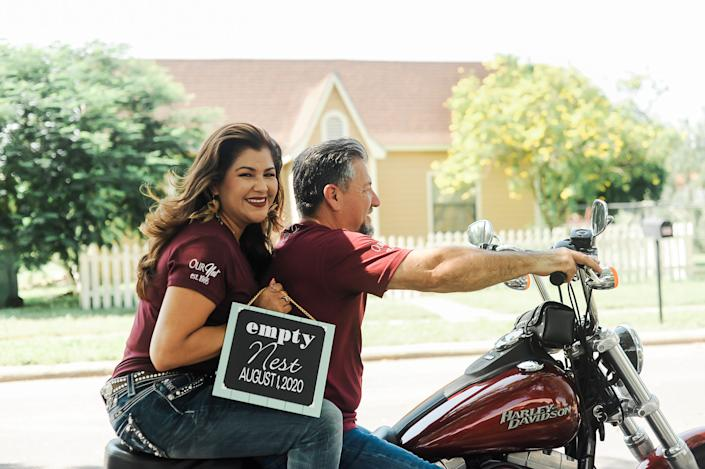The Perezes are riding into their next chapter with style.&nbsp; (Photo: <a href=&quot;https://www.instagram.com/photographymelyssaanne/&quot; target=&quot;_blank&quot;>Melyssa Anne Photography </a>)
