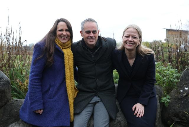 Deputy leader Amelia Womack and Green Party co-leaders Jonathan Bartley and Sian Berry
