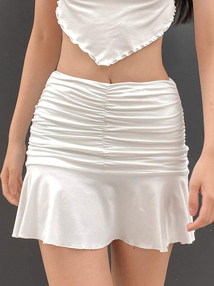 <p>This <span>Wgooyheya Ruched Ruffle Skirt</span> ($9-$19) will flatter your curves, and make you look and feel good.</p>