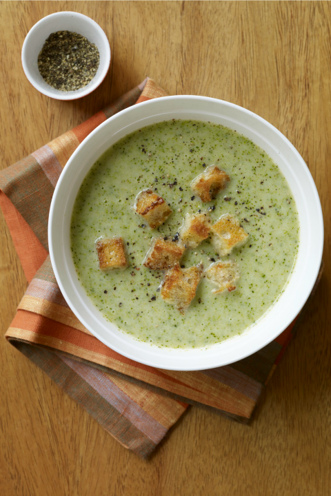 """<p>Broccoli and cheddar is a classic combination that works every time. Put in a little extra effort to make some homemade croutons that will take this soup to the next level.</p><p><strong><em><a href=""""https://www.womansday.com/food-recipes/food-drinks/recipes/a11908/broccoli-cheddar-cheese-soup-recipe-123136/"""" rel=""""nofollow noopener"""" target=""""_blank"""" data-ylk=""""slk:Get the Broccoli and Cheddar Cheese Soup recipe."""" class=""""link rapid-noclick-resp"""">Get the Broccoli and Cheddar Cheese Soup recipe. </a></em></strong></p>"""