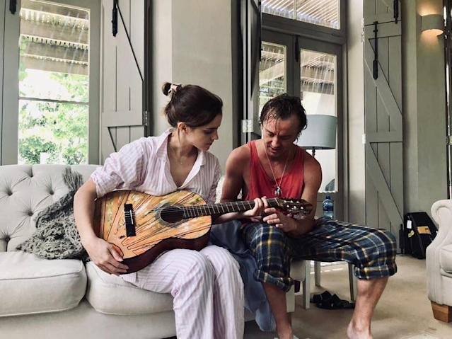 Tom Felton taught Emma Watson to play the guitar (Credit: Tom Felton/Instagram)