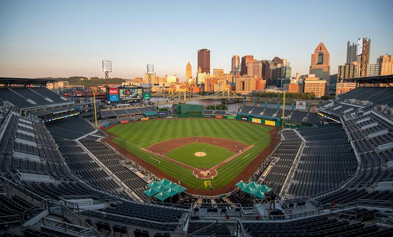 The Blue Jays will reportedly be making beautiful PNC Park in Pittsburgh their home for the 2020 season. (Photo by Justin Berl/Getty Images)