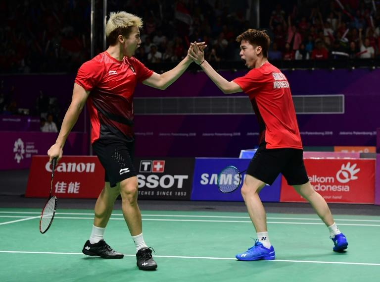 "Indonesia's Marcus Fernaldi Gideon (L) and Kevin Sanjaya Sukamuljo are affectionately known as the ""Minions"""