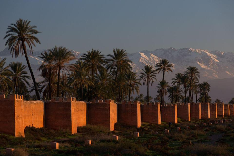 """<p>Popular because of the film <em>Casablanca</em> and Yves Saint Laurent, <a href=""""https://www.visitmorocco.com/en/travel/marrakech"""" rel=""""nofollow noopener"""" target=""""_blank"""" data-ylk=""""slk:Marrakech"""" class=""""link rapid-noclick-resp"""">Marrakech</a> was known to have a varied geography making it compatible for every type of traveler. </p>"""