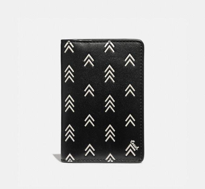 Card Wallet With Line Arrow Print. Image via Coach Outlet.