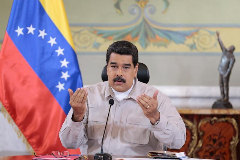 Venezuelan President Nicolas Maduro, pictured in 2016, has been blamed by the opposition for an economic crisis aggravated by falling oil prices, which has caused acute shortages of food and medicine