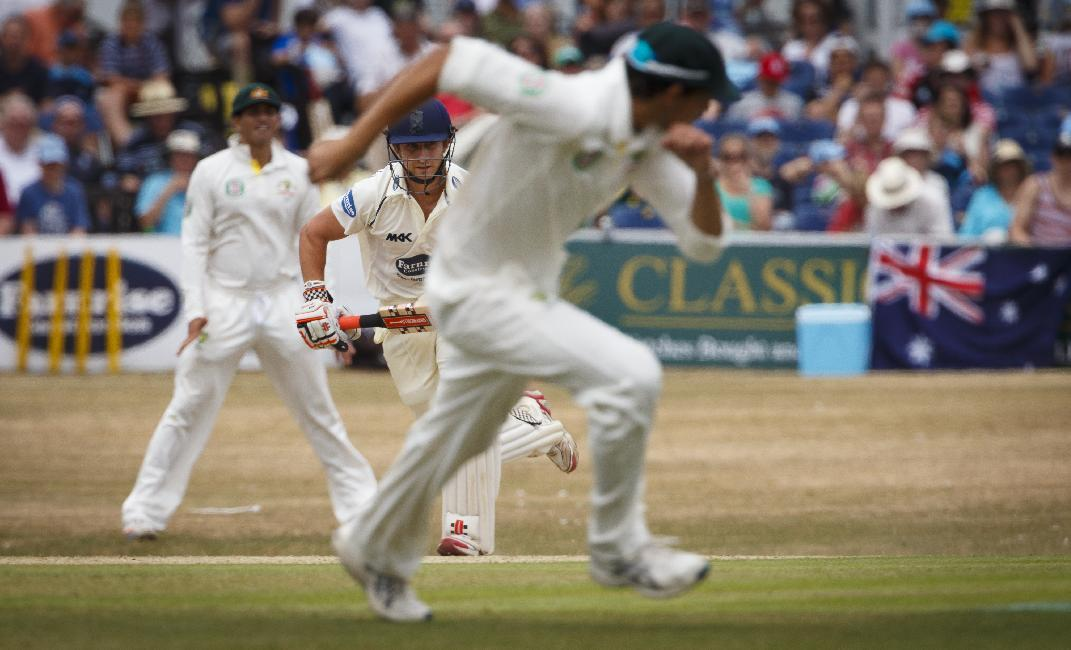 Nottinghamshire's James Taylor playing for Sussex in action on day two of the international tour match between Sussex and Australia at the BrightonandHoveJobs.com County Cricket Ground, Hove.
