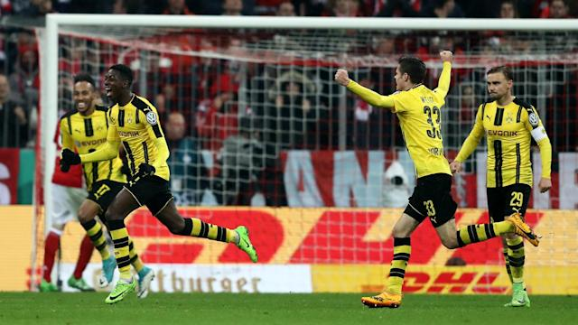 Ousmane Dembele led Borussia Dortmund to a 3-2 win over Bayern Munich and their fourth consecutive DFB-Pokal final.