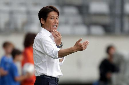 Soccer Football - International Friendly - Japan vs Paraguay - Tivoli-Neu, Innsbruck, Austria - June 12, 2018 Japan coach Akira Nishino REUTERS/Lisi Niesner