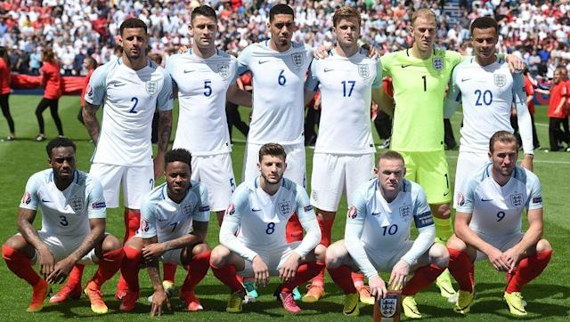 <p>England qualified for Euro 2016 by winning all of their 10 qualifying games. They secured their 100% qualifying record by defeating Lithuania 3-0, and fielded this starting 11: </p> <br><p>Jack Butland, Kyle Walker, Kieran Gibbs, Jonjo Shelvey, Phil Jones, Phil Jagielka, Alex Oxlade-Chamberlain, Ross Barkley, Jamie Vardy, Harry Kane and Adam Lallana.</p> <br><p>Hodgson's side conceded a stoppage time equaliser against Russia in their opening game after eight changes were made from qualification. </p> <br><p>Out went: Butland, Gibbs, Shelvey, Jones, Jagielka, Oxlade-Chamberlain, Barkley and Vardy, and in came Joe Hart, Danny Rose, Gary Cahill, Chris Smalling, Raheem Sterling, Wayne Rooney, Eric Dier and Dele Alli.</p> <br><p>Yet again England failed to meet pre-tournament expectations. After scraping through their group by winning just one of the three games, England were on the receiving end of one of the biggest upsets of Euro 2016 after they were beaten 2-1 by Iceland</p>