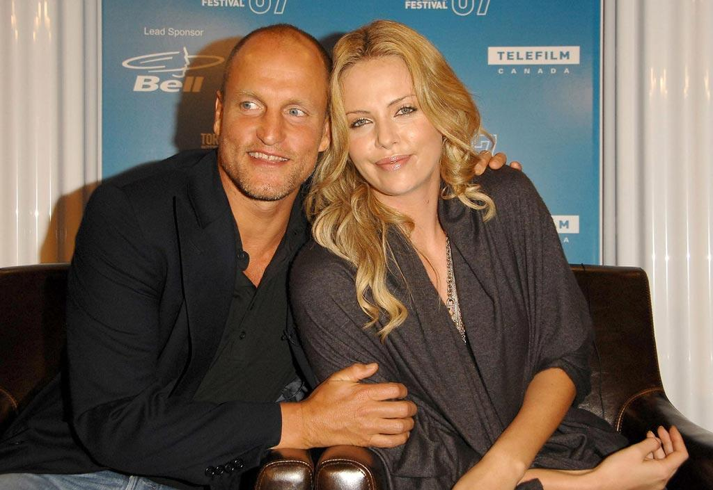 """<a href=""""http://movies.yahoo.com/movie/contributor/1800018911"""">Woody Harrelson</a> and <a href=""""http://movies.yahoo.com/movie/contributor/1800019484"""">Charlize Theron</a> at the 32nd Annual Toronto Film Festival press conference for <a href=""""http://movies.yahoo.com/movie/1809786769/info"""">Battle in Seattle</a> - 09/09/2007"""