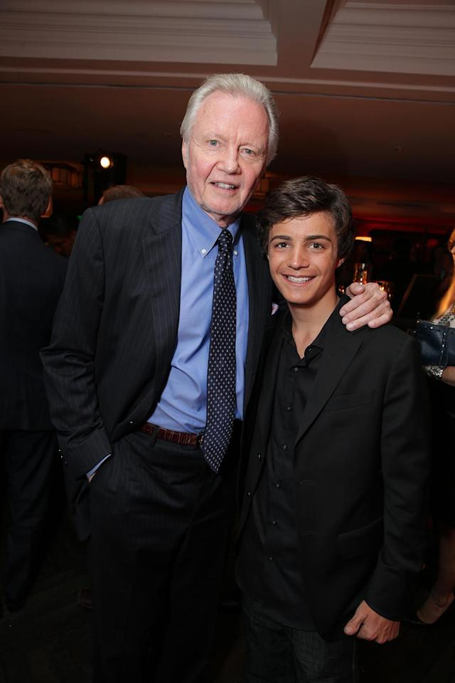 Jon Voight and Devon Bagby at the Showtime premiere of the new drama series Ray Donovan presented by Time Warner Cable, on Tuesday, June, 25, 2013 in Los Angeles. (Photo by Eric Charbonneau/Invision for Showtime/AP Images)