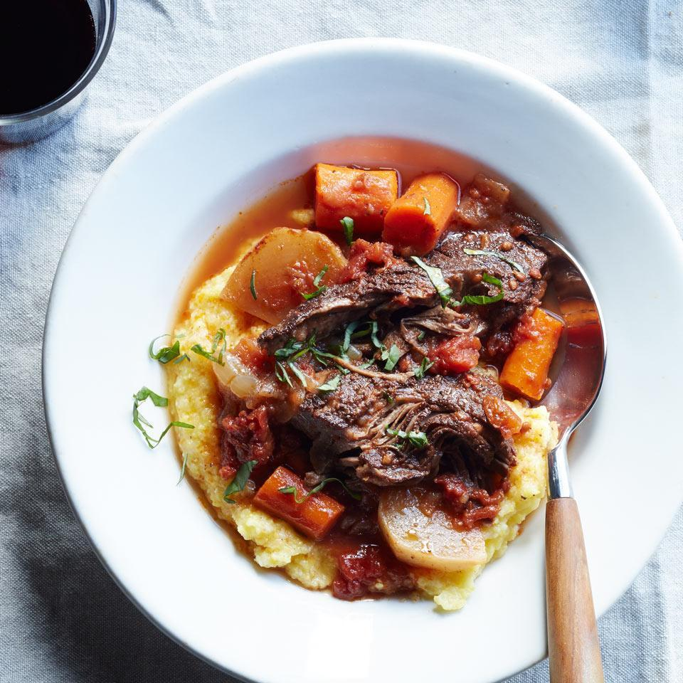 <p>The spice blend in this healthy beef stew recipe--cinnamon, allspice and cloves--may conjure images of apple pie, but the combo is a great fit in savory applications too. Serve over creamy polenta or buttered whole-wheat egg noodles.</p>